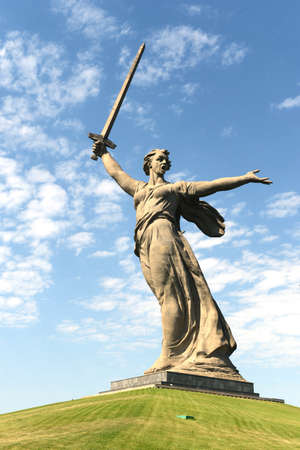 major battle: The monument the Motherland calls of the Mamaev Kurgan in Volgograd