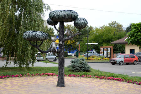 Monument to the kitten from lizyukov street the monument to the hero of the cartoon The Kitten from lizyukov street in Voronezh on the street lizyukov. Editorial