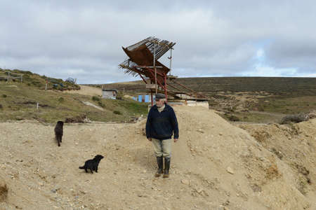 searcher: The gold mine on the island of Tierra del Fuego.