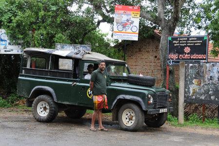ceylon: Unknown to the inhabitants of Ceylon village the jeep.