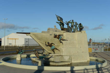 arenas: Monument to the sailors in Punta Arenas.