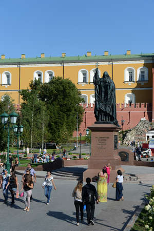 martyr: The monument to Martyr Hermogenes, Patriarch of Moscow in the Alexander garden, Moscow