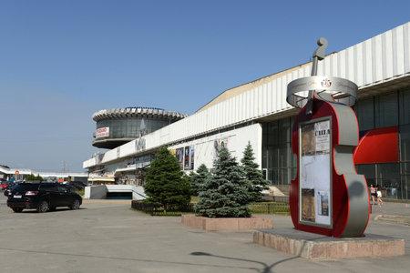 volgograd: The building of river station in Volgograd. Editorial