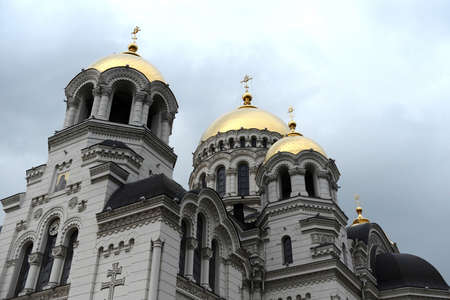 cossacks: Ascension military Patriarchal Cathedral - Orthodox Church, the second Cathedral of Rostov and Novocherkassk eparchy and the main temple of the don Cossacks Editorial