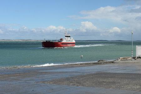 strait of magellan: Ferry crossing in the Magellan Strait.