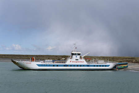 strait of magellan: Ferry crossing in the Magellan Strait.