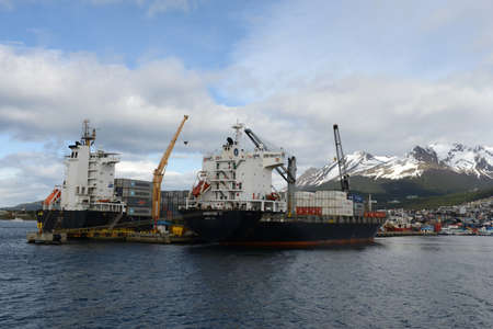 southernmost: : Sea port of Ushuaia - the southernmost city in the world.