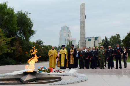 voronezh: The memorial complex on Victory square in the city of Voronezh. Editorial