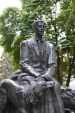laureate: The monument to the writer Ivan Bunin Bunin the public garden in Voronezh