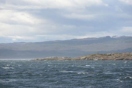 tierra del fuego: The Beagle channel separating the main island of the archipelago of Tierra del Fuego and lying to the South of the island.