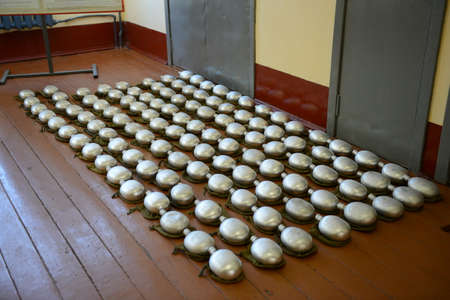 barracks: Soldier canteen on the floor of the barracks