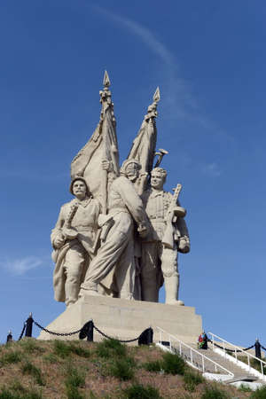 fronts: The monument to the Connection fronts in the village of Pyatimorsk devoted to the completion of the encirclement of Nazi troops in the battle of Stalingrad.