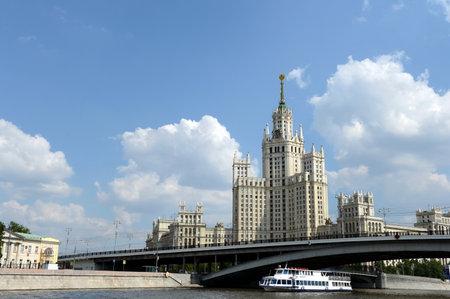 kotelnicheskaya embankment: High-rise building on Kotelnicheskaya embankment in Moscow.