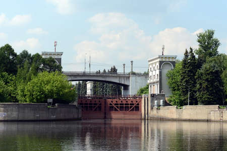 gateway: The gateway of the Moscow canal. Editorial