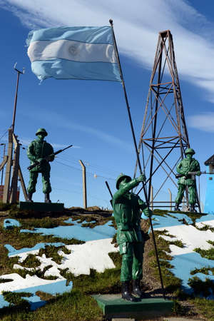 disputed: Sculptural composition the Malvinas Islands belong to Argentina at the military base of the Argentine Navy in the city of Rio Grande.
