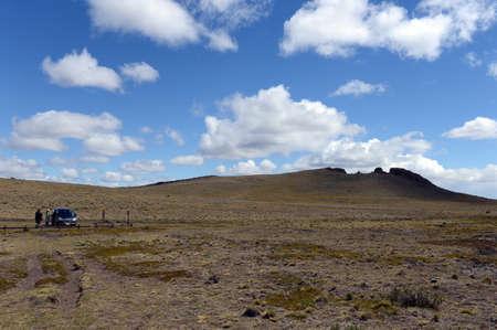 obrero: El Parque Nacional Pali Aike en el sur de Chile.