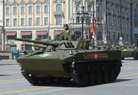 Fighting machine landing BMD-4M, Gardener equipped with fighting module Plantation developed in Tula sue instrument design Bureau at the rehearsal of the Victory parade Editorial