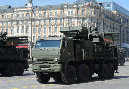 parade of homes: Pantsir-S1 (SA-22 Greyhound) is a combined short to medium range surface-to-air missile and anti-aircraft artillery weapon system.