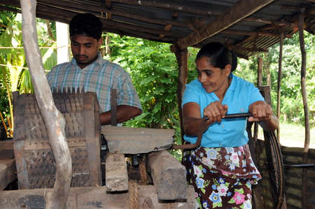 villagers: Villagers from the suburbs of Kandy engaged in the production of fiber.