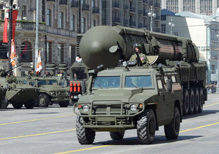 ballistic: GAZ-2330 Tigr - Russian multipurpose armored vehicle and rocket complex of strategic purpose with an Intercontinental ballistic missile RT-2PM2 Topol-M