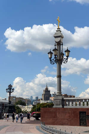 plafond: Architectural lamp of the Temple of Christ the Savior in Moscow.