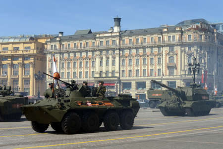 rehearsal: Rehearsal for the celebration of the Victory Parade in Moscow