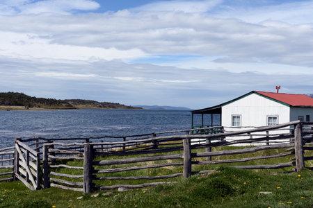 tierra del fuego: Harberton estate is the oldest farm of Tierra del Fuego Editorial
