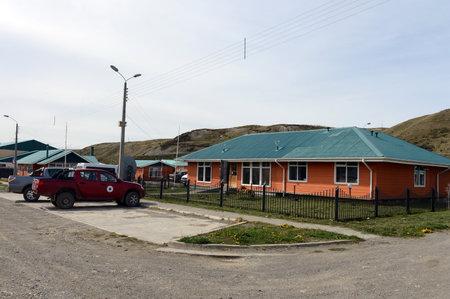 tierra del fuego: The Cameron village centre of the municipality of Temaukel. Tierra Del Fuego Editorial