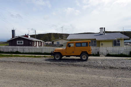 municipality: The Cameron village centre of the municipality of Temaukel. Tierra Del Fuego Editorial