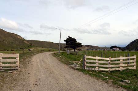 tierra: Sheepfold in the village of Temaukel. Tierra Del Fuego.