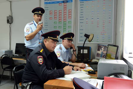 police unit: Officers in the guard unit of the Moscow police Department.