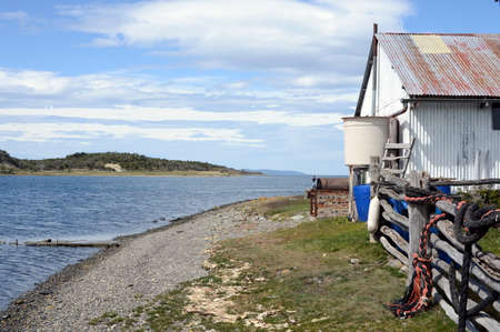 tierra: Harberton estate is the oldest farm of Tierra del Fuego and an important historical monument of the region.