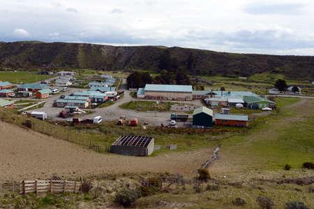magallanes: The Cameron village centre of the municipality of Temaukel. Tierra Del Fuego.