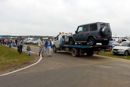 evacuation: The evacuation of the car from the international aviation and space salon MAKS-2013. Editorial
