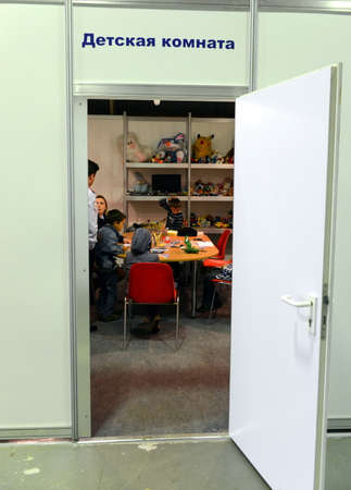 international monitoring: Childrens room at the police station at the air show MAKS-2013 Editorial