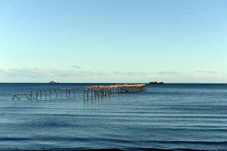 arenas: Punta Arenas. The Strait of Magellan Stock Photo
