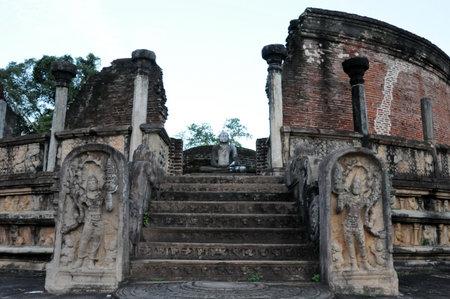 central chamber: Royal Palace of King Parakramabahu in the world heritage city Polonnaruwa.The Polonnaruwa - medieval capital of Sri Lanka.