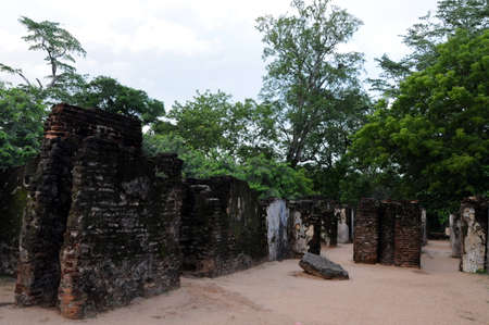 central chamber: Royal Palace of King Parakramabahu in the world heritage city Polonnaruwa.