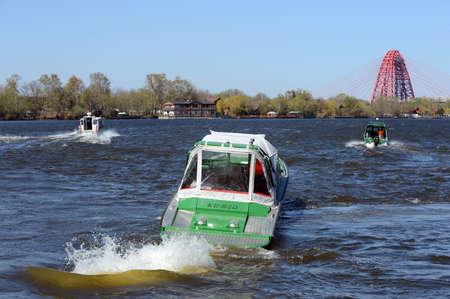 patrol: Patrol boats on the river Moscow. Editorial