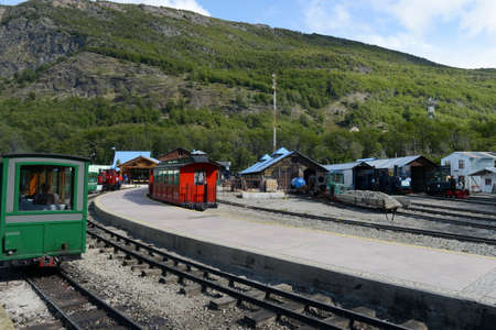 narrow gauge railways: Locomotive depot on the southern Pacific railroad in the world