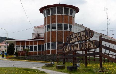 tierra: Military Base Navy Argentina in Ushuaia. Editorial