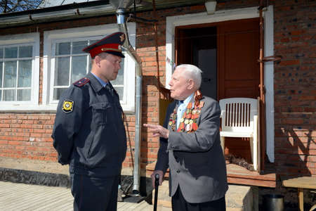 inspector: District inspector of police visited the war veteran. Editorial