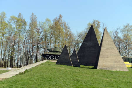 t34: The memorial complex line of Glory on the Volokolamsk highway.