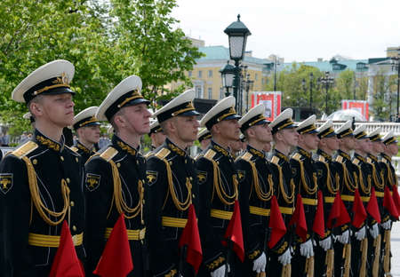 curfew: The guard of honor during a ceremony of laying flowers at the tomb of the Unknown soldier in the Alexander garden