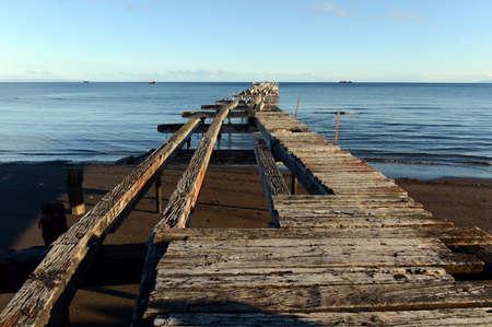 strait of magellan: The Strait of Magellan at Punta arenas.