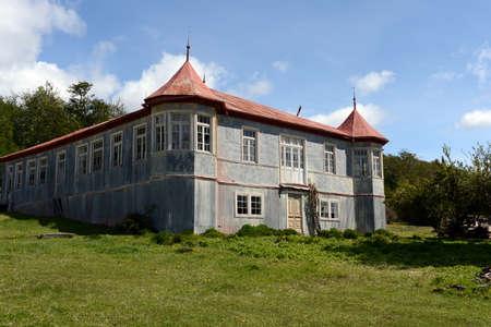 vicuna: Vintage estate Vicuna in Tierra del Fuego. Stock Photo