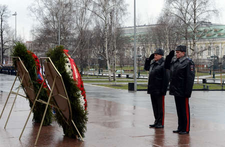 arkady: The ceremony of laying flowers and wreaths at the Tomb of the Unknown Soldier during the celebrations of the day of defender of the Fatherland.