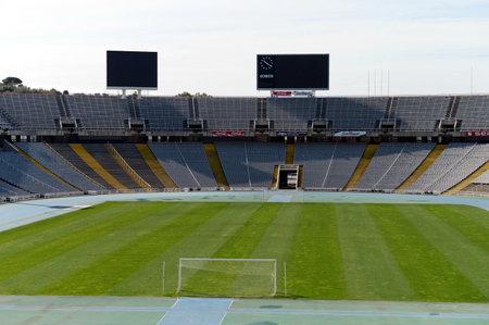 montjuic: stadium on montjuic in Barcelona. Editorial