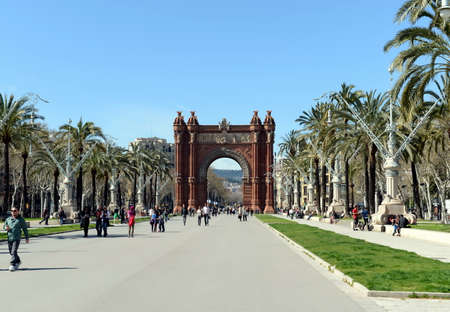 the world expo: The arc de Triomphe is a monument in Barcelona. Served as the main entrance of the world Expo 1888.