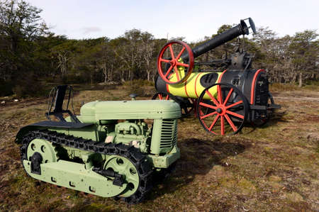 tierra del fuego: Vintage agricultural machinery in Tierra del Fuego.